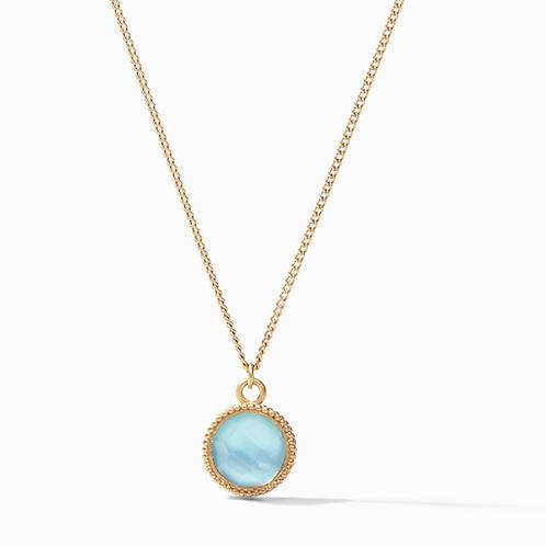 Fleur-de-Lis Necklace Iridescent Bahamian Blue