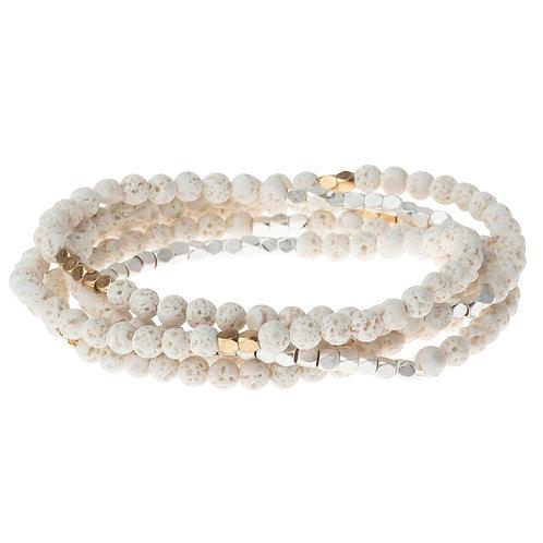 White Lava - Stone of Strength Bracelet Necklace