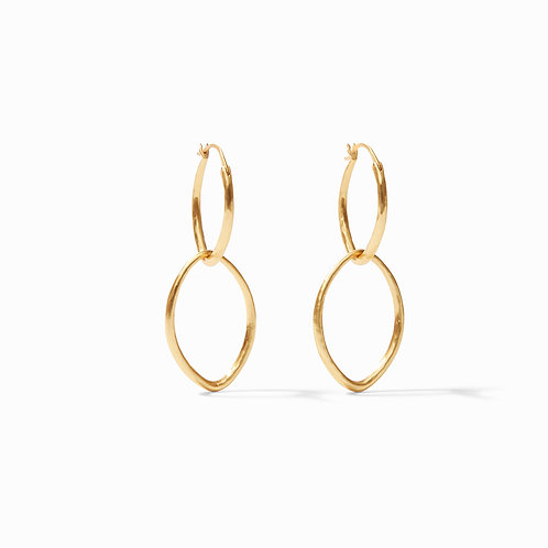 Fleur-de-Lis 2 in 1 Earring Gold