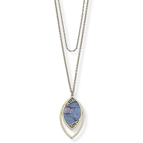 KENNEDY NECKLACE IN BLUE MOTHER OF PEARL