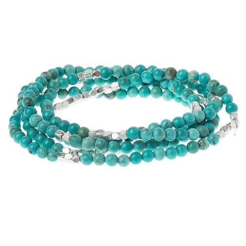 Turquoise/Silver - Stone of the Sky Bracelet-Necklace
