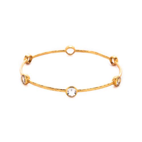 Milano Bangle Gold Clear Crystal - Medium