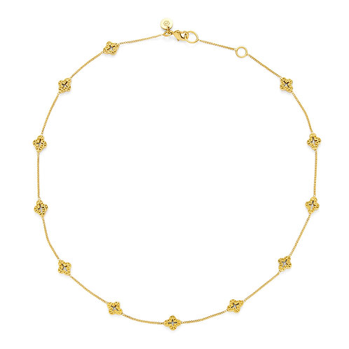 Florentine Demi-Delicate Necklace Gold 16-17 Inches