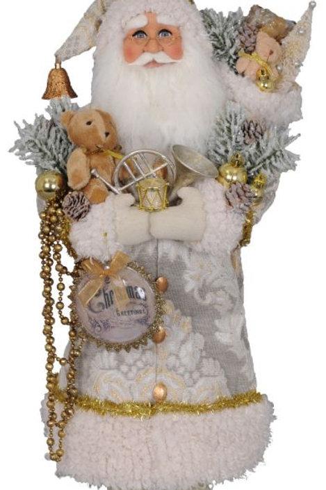 KAREN DIDION CREAM CHRISTMAS GREETINGS SANTA