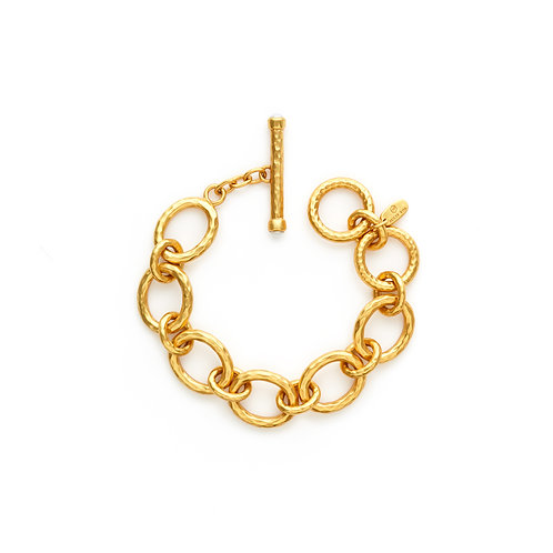 Catalina Small Link Bracelet Gold Pearl