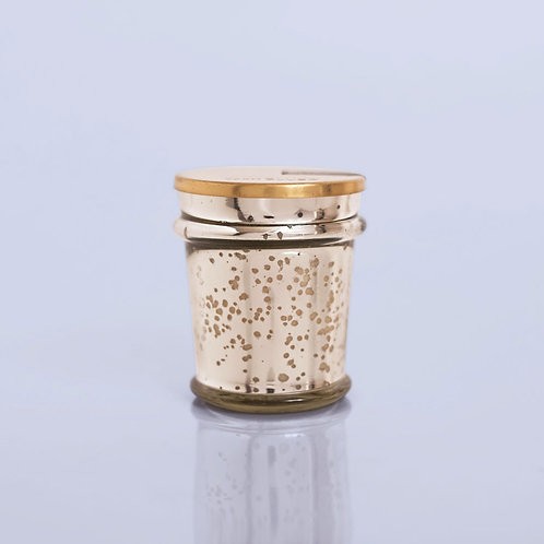 MERCURY GLASS FOUND JAR - VOLCANO