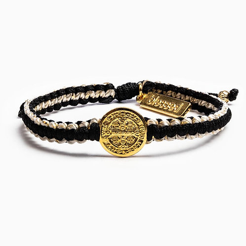 GRATITUDE BRACELET GOLD with BLK and Gold