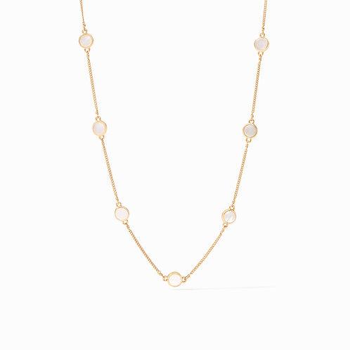 Valencia Delicate Station Necklace Pearl