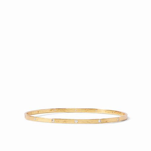 Crescent Bangle Gold Cubic Zirconia - Medium