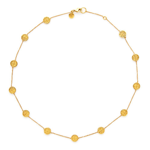 Valencia Delicate Station Necklace Gold