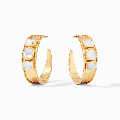 Savoy Statement Hoop Gold Iridescent Clear Crystal