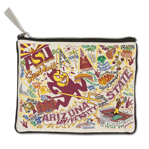 ARIZONA STATE UNIVERSITY ZIP POUCH