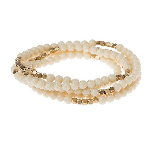 White Fossil - The Supreme Nurturer Bracelet-Necklace
