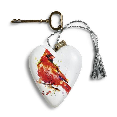 ART HEARTS - CARDINAL