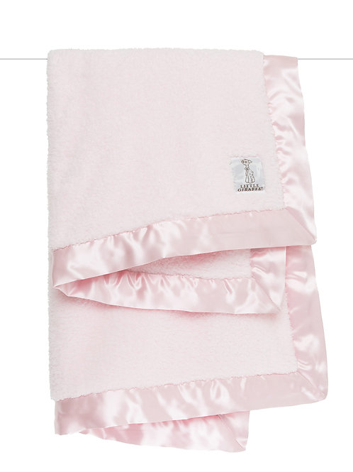Little Giraffe Chenille Baby Blanket in a box -Pink