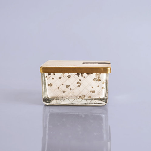 MERCURY GLASS JEWEL BOX CANDLE - VOLCANO