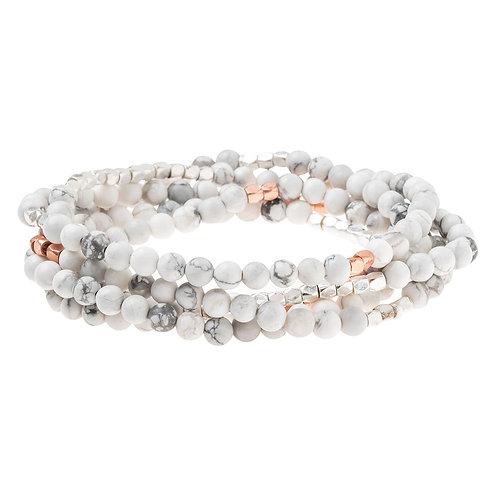 Howlite Rose - Stone of Harmony Bracelet Necklace