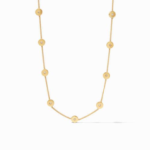Poppy Delicate Station Necklace Gold Cz