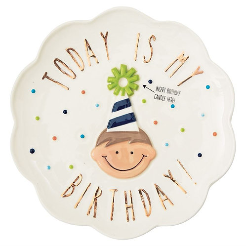 BIRTHDAY PLATE FOR BOY