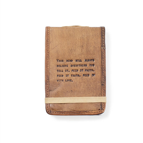 MINI LEATHER JOURNAL MIND