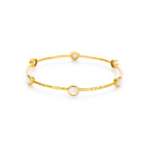 Milano Bangle Gold Mother of Pearl - Medium