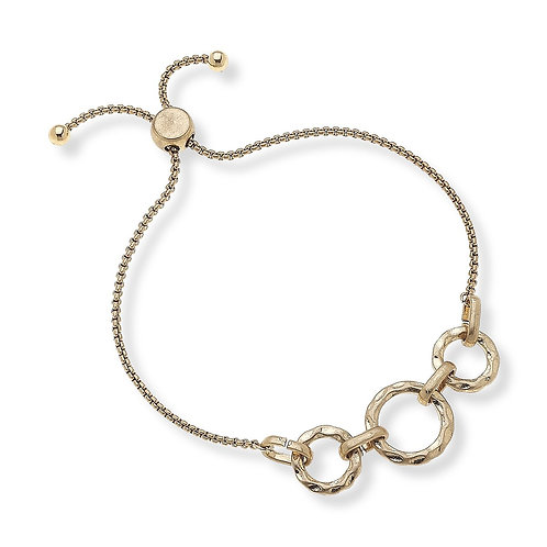 LEXI BOHO BRACELET IN WORN GOLD