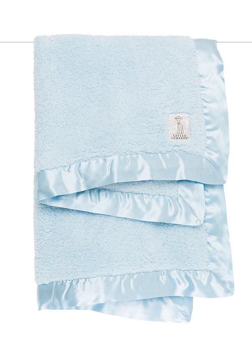 Little Giraffe Chenille Baby Blanket in a box - Blue