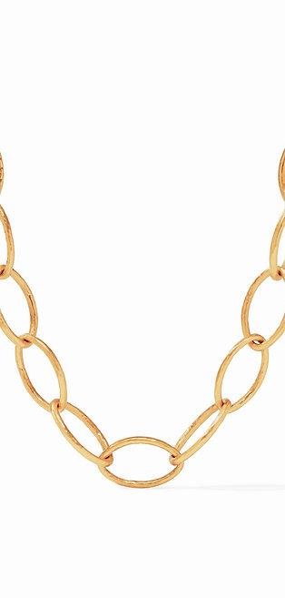 Fleur-de-Lis Link Necklace Gold