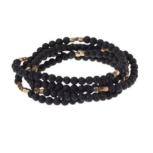 Lava Stone - Stone of the Strength Bracelet-Necklace