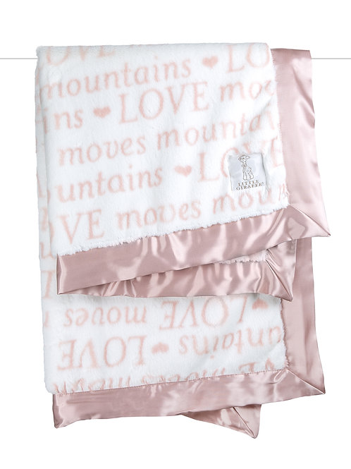 Little Giraffe Luxe™ LOVE Moves Mountains Dusty Pink