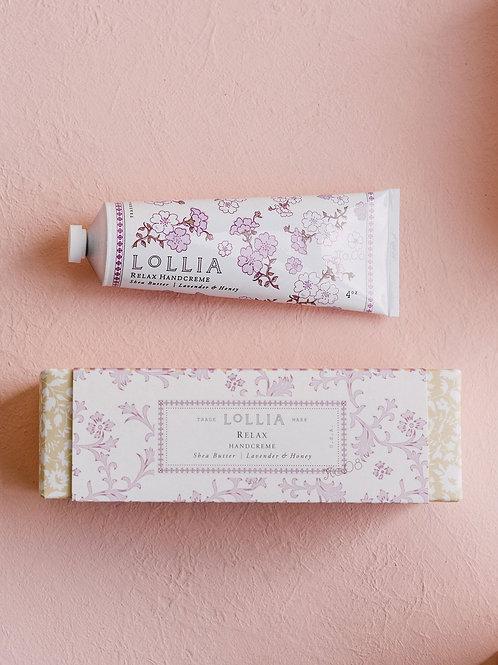 LOLLIA RELAX PERFUMED SHEA BUTTER HAND CREAM