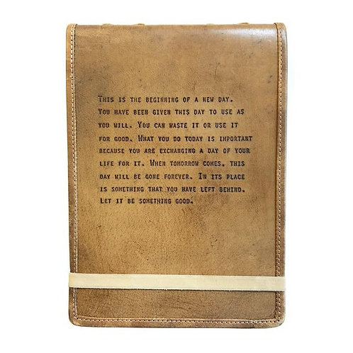 LEATHER JOURNAL LG BEGINNING