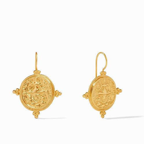Quatro Coin Earring