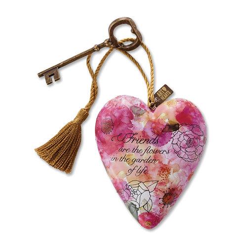 ART HEARTS -FRIENDS ARE FLOWERS