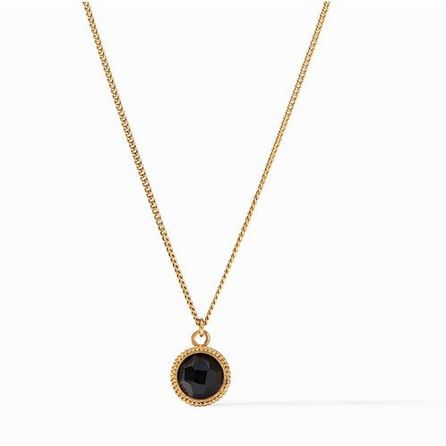 Fleur-de-Lis Necklace Obsidian Black