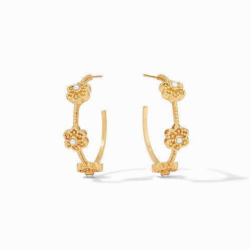 Colette Pearl Hoop Gold Pearl Medium