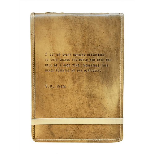 LEATHER JOURNAL LG E.B WHITE
