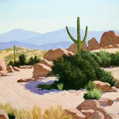 Willis M Rue Photo Realism Arizona Landscape Painting