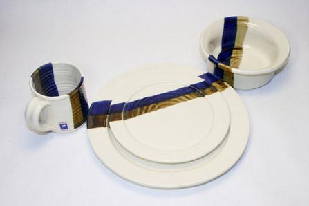 Fred Evangel Studio Pottery Plates Bowls & Mugs Eames Era