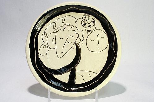 Sandra Magsamen Studio Pottery Plate