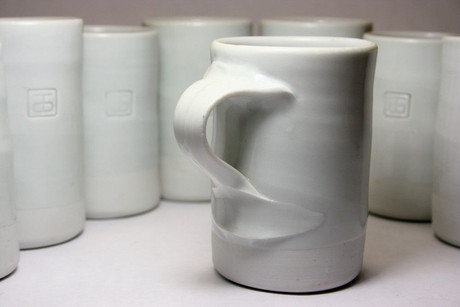 Byron Temple Set of Porcelain Cups American Studio Pottery
