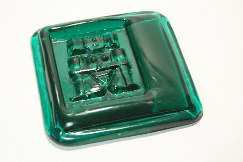 Erik Hoglund Glass Tile Sculpture Kosta Boda
