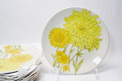 Ernestine Cannon (1904-1969) Dinner Service 8 Chrysanthemum Bitossi Era