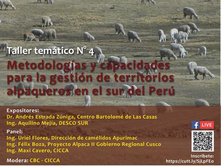 SEMINARIO INTERNACIONAL SOBRE CAMELIDOS SUDAMERICANOSTALLER TEMATICO 4: