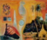 Orange Pekoe. 2019. Acrylic and collage