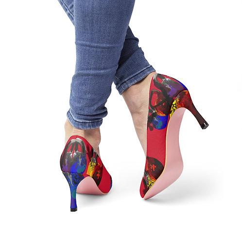 Kettlebells fly Women's High Heels - red