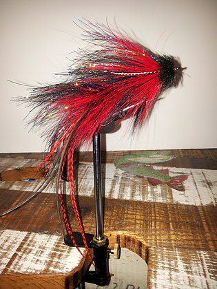 Musky Fly - Double - Red & Black