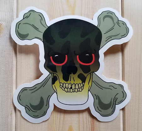 Smallmouth Bass Skull & Crossbones Stickers