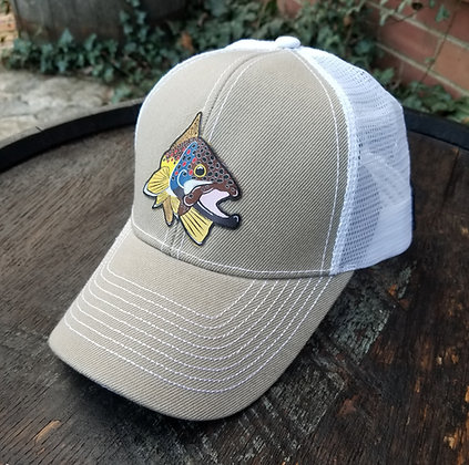 Brown Trout Kype Tan Trucker Hat