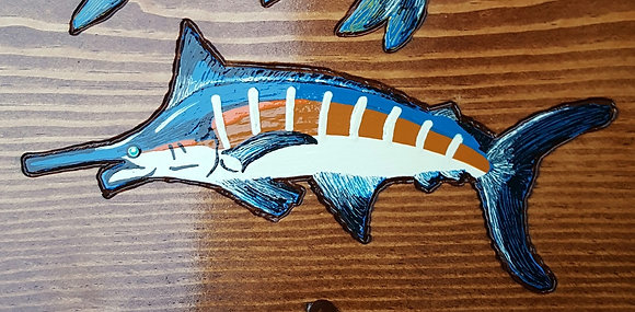 Hand-Painted Blue Marlin